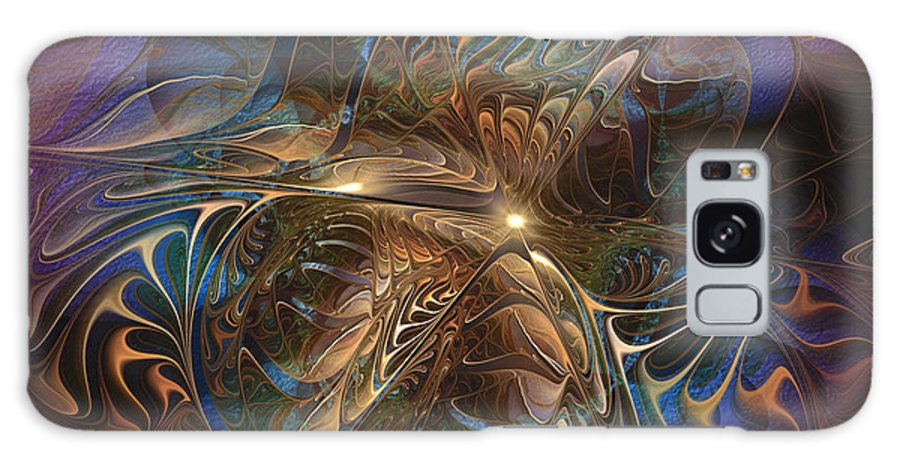 Abstract Galaxy S8 Case featuring the digital art Mystery Spread Its Cloak by Casey Kotas