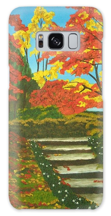 Fall Landscape Galaxy S8 Case featuring the painting Mystery Walk by Brandy House
