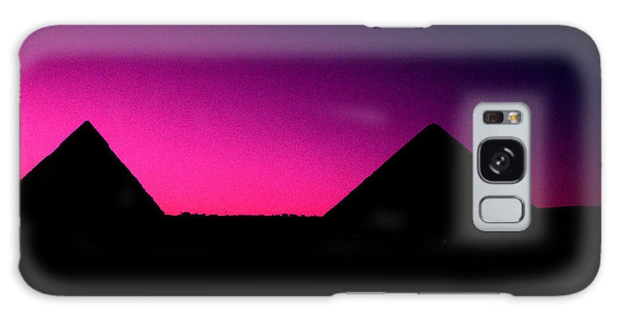 Pyramids Galaxy S8 Case featuring the photograph The Pyramids At Sundown by Gary Wonning