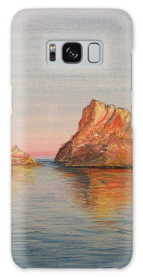 Island Galaxy S8 Case featuring the painting Mystical Island Es Vedra by Lizzy Forrester