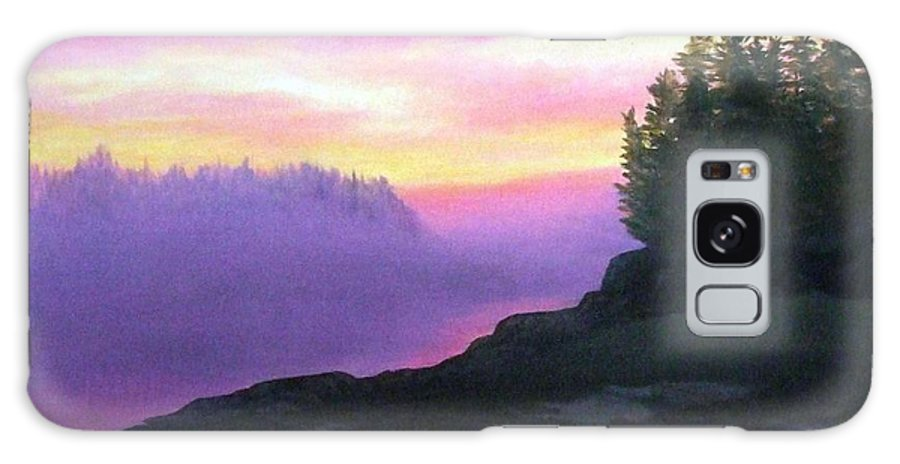 Sunset Galaxy S8 Case featuring the painting Mystical Sunset by Sharon E Allen