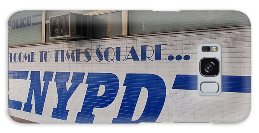 Nypd Galaxy S8 Case featuring the photograph N Y P D Blue by Rob Hans