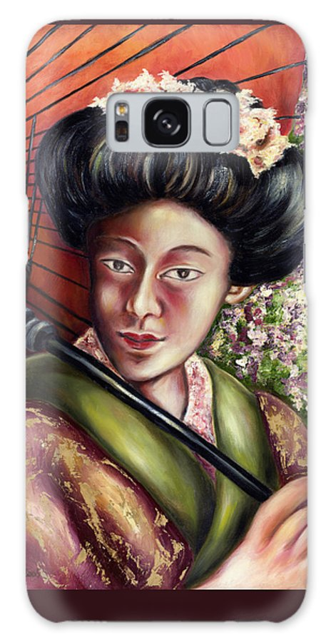 Japanese Galaxy S8 Case featuring the painting Nadeshiko by Hiroko Sakai
