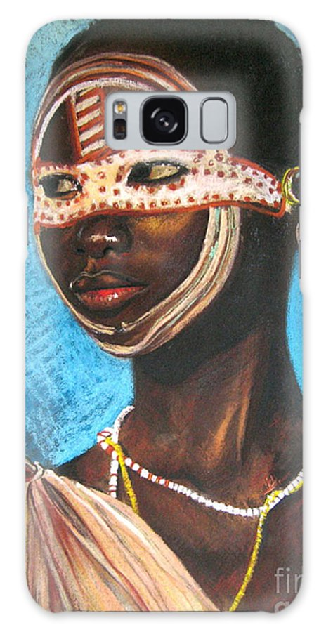 Pastels Galaxy S8 Case featuring the drawing Nairobi Girl by Yxia Olivares
