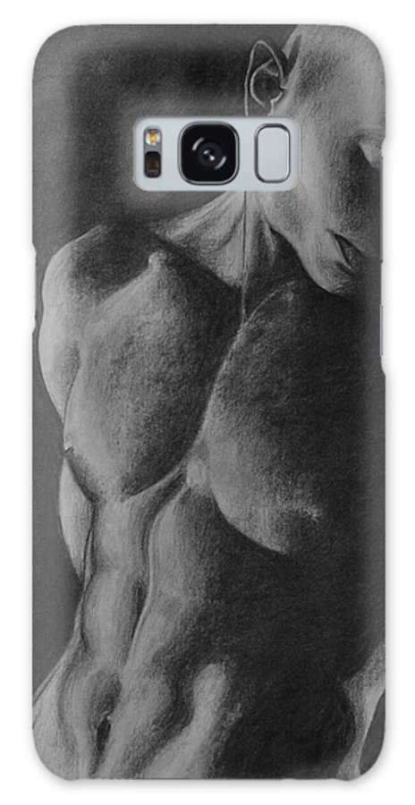 Man Galaxy S8 Case featuring the drawing Naked Man by Trisha Lambi