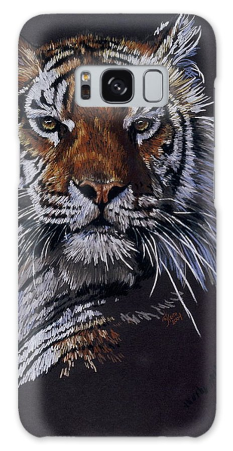 Tiger Galaxy S8 Case featuring the drawing Nakita by Barbara Keith