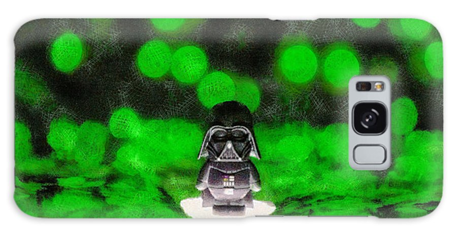 Darth Galaxy S8 Case featuring the painting Nano Darth Vader - Pa by Leonardo Digenio