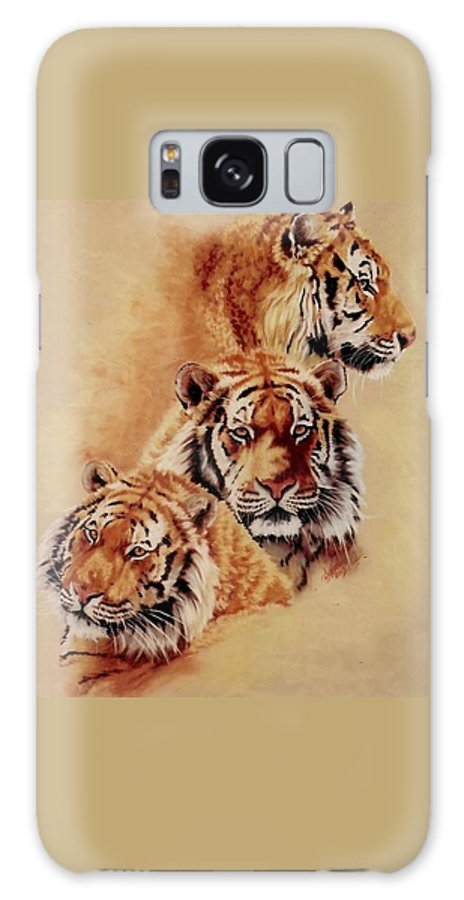 Tiger Galaxy S8 Case featuring the pastel Nanook by Barbara Keith