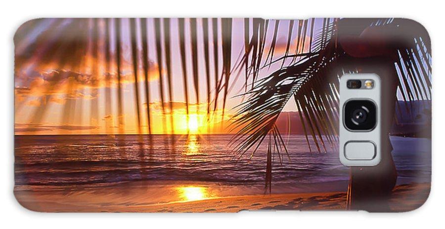 Sunset Galaxy S8 Case featuring the photograph Napili Bay Sunset Maui Hawaii by Jim Cazel