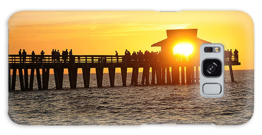Naples Galaxy S8 Case featuring the photograph Naples Florida Sunset Pier by Keith Lovejoy