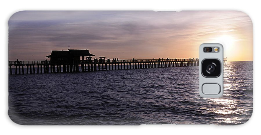 Naples Galaxy S8 Case featuring the photograph Naples Pier Sundown by Keith Lovejoy