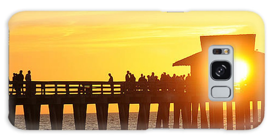 Naples Galaxy S8 Case featuring the photograph Naples Pier Sunset by Keith Lovejoy
