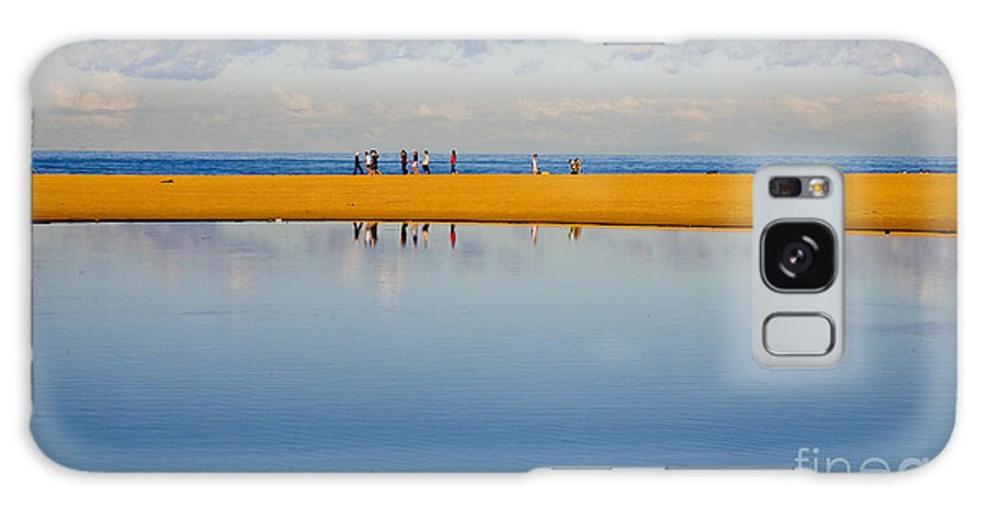 Dunes Lowry Sand Sky Reflection Sun Lifestyle Narrabeen Australia Galaxy S8 Case featuring the photograph Narrabeen Dunes by Sheila Smart Fine Art Photography