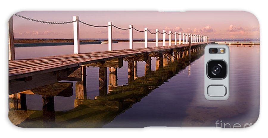 Narrabeen Sydney Sunrise Wharf Walkway Galaxy S8 Case featuring the photograph Narrabeen Sunrise by Sheila Smart Fine Art Photography