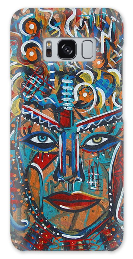 Abstract Galaxy S8 Case featuring the painting Nataliana by Natalie Holland