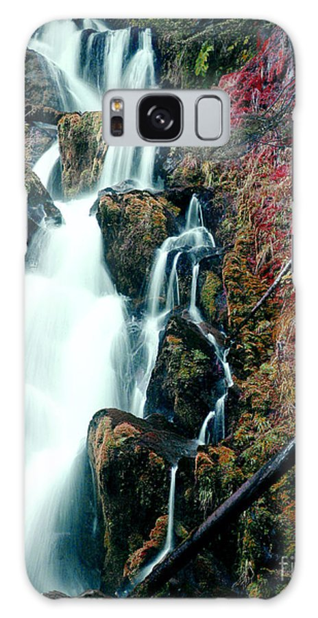 Waterfall Galaxy Case featuring the photograph National Creek Falls 07 by Peter Piatt