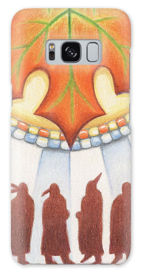 Atc Galaxy S8 Case featuring the drawing Native Autumn by Amy S Turner