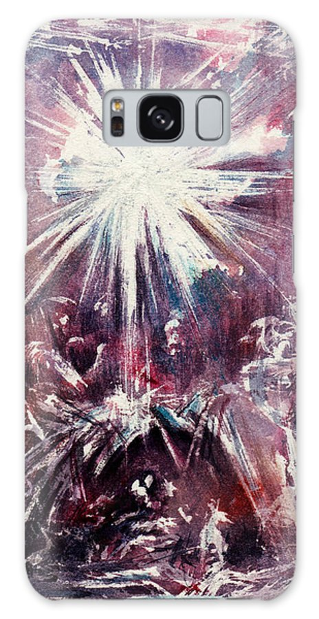Nativity Galaxy S8 Case featuring the painting Nativity 1 by Rachel Christine Nowicki