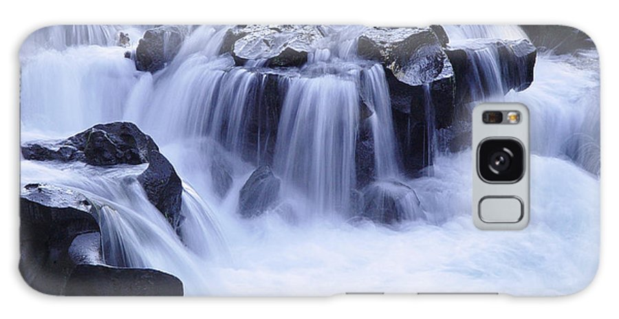 Waterfall Galaxy Case featuring the photograph Natural Bridges Falls 01 by Peter Piatt