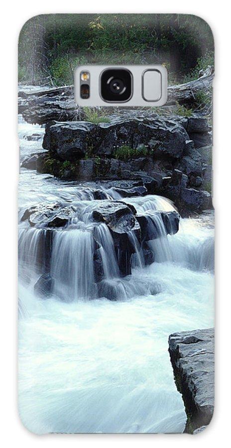 Waterfall Galaxy S8 Case featuring the photograph Natural Bridges Falls 03 by Peter Piatt
