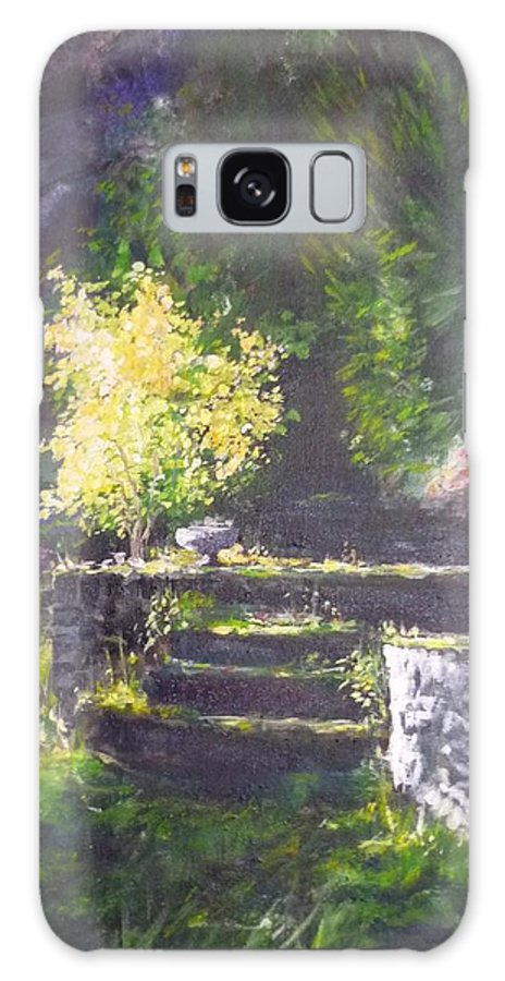 Garden Galaxy S8 Case featuring the painting Naturallly....or A Quiet Corner by Lizzy Forrester