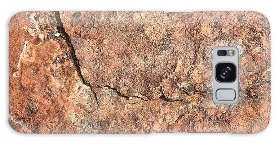 Nature Abstract Galaxy S8 Case featuring the photograph Nature Abstract - Cracked by Carol Groenen