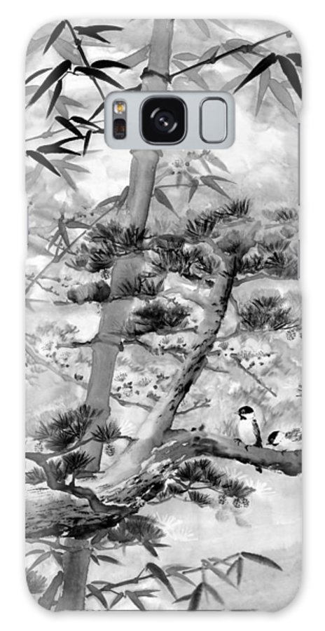 Black And White Galaxy Case featuring the painting Nature by Eileen Fong