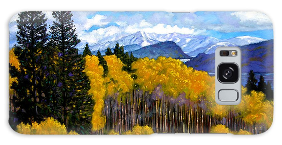 Fall Galaxy Case featuring the painting Natures Patterns - Rocky Mountains by John Lautermilch