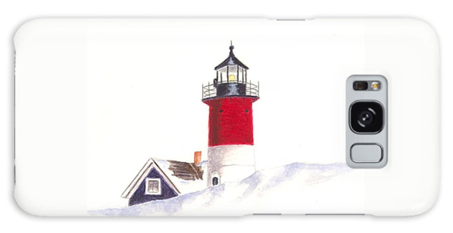 Lighthouse Galaxy S8 Case featuring the painting Nauset Beach Lighthouse by Michael Vigliotti