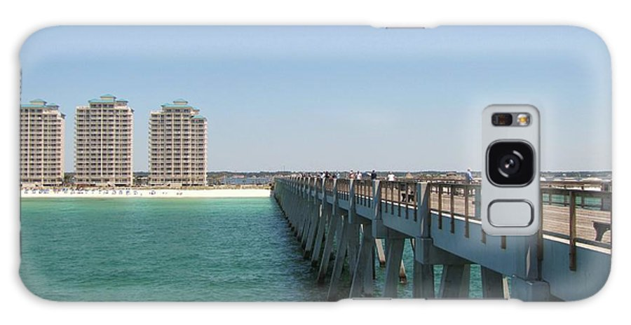 Pier Galaxy S8 Case featuring the photograph Navarre Fishing Pier by Michelle Powell