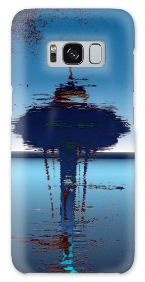 Seattle Galaxy S8 Case featuring the digital art Needle In A Raindrop Stack 4 by Tim Allen