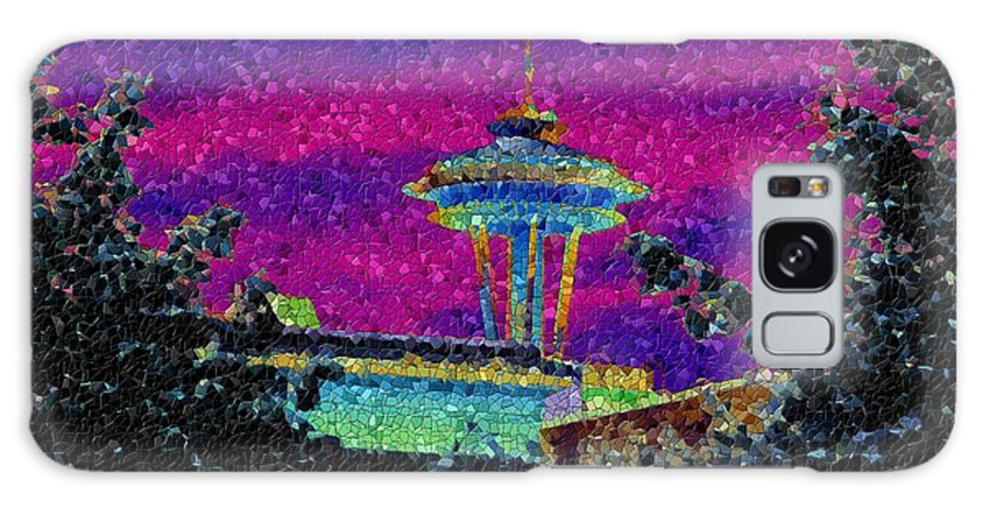 Seattle Galaxy S8 Case featuring the photograph Needle In Mosaic 2 by Tim Allen