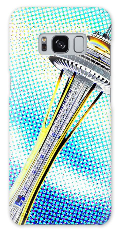 Seattle Galaxy S8 Case featuring the photograph Needle In Newsprint by Tim Allen