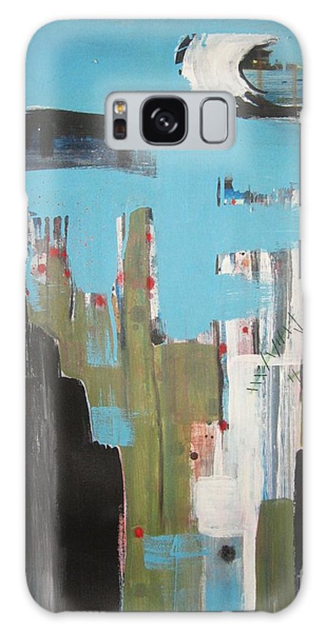 Abstract Paintings Galaxy S8 Case featuring the painting Neglected Area by Seon-Jeong Kim