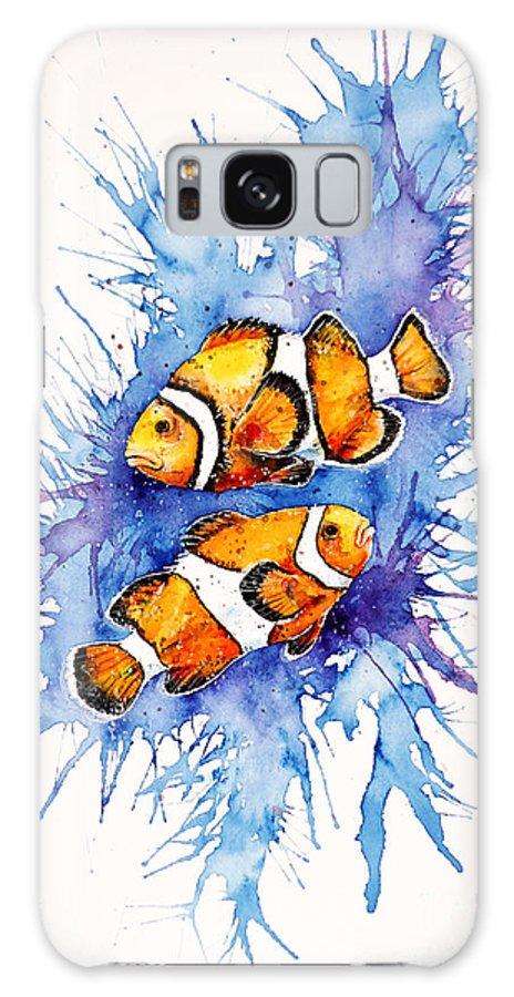 Clownfish Galaxy S8 Case featuring the painting Neighbors by Zaira Dzhaubaeva