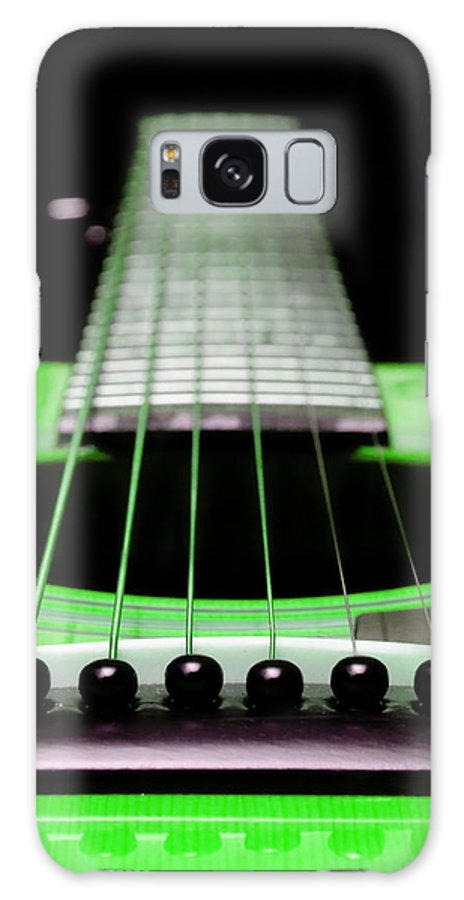Andee Design Guitar Galaxy S8 Case featuring the photograph Neon Green Guitar 18 by Andee Design
