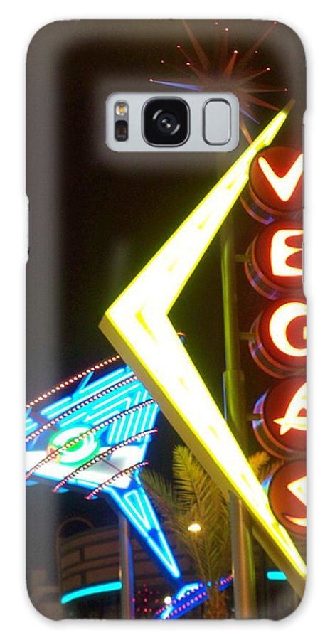 Fremont East Galaxy Case featuring the photograph Neon Signs 3 by Anita Burgermeister