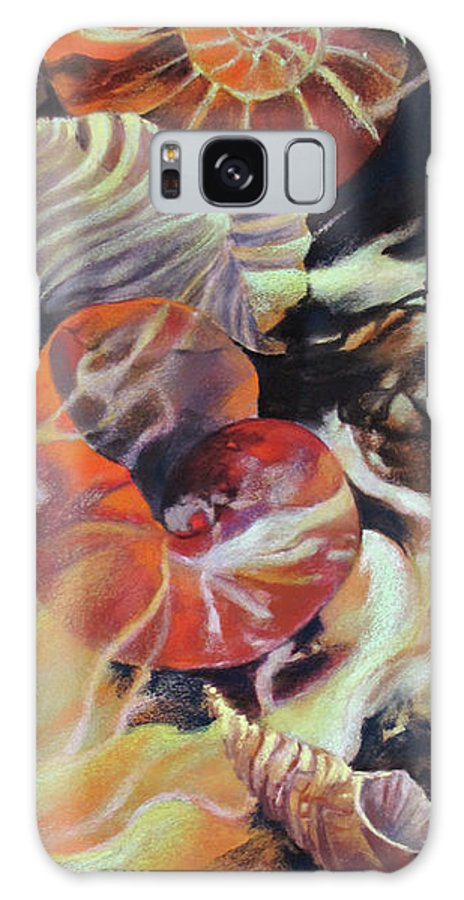 Abstract Galaxy S8 Case featuring the painting Neptunea by Rae Andrews