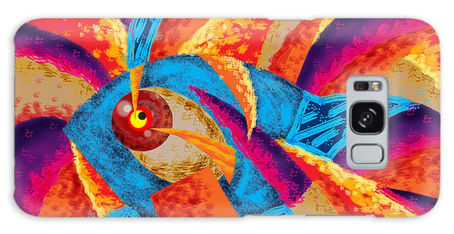 Digital Art Galaxy S8 Case featuring the digital art Nero Fish by Eduardo Natario
