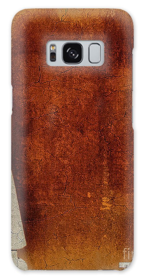 Abstract Galaxy S8 Case featuring the digital art Nero Rustic Sculpture Wall by Mona Stut