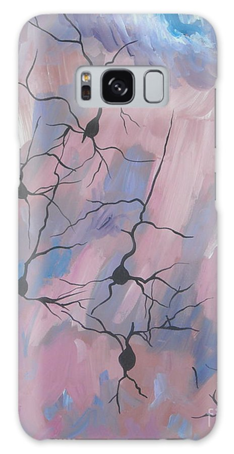 Nerve Galaxy S8 Case featuring the painting Nerves by Caroline Davis