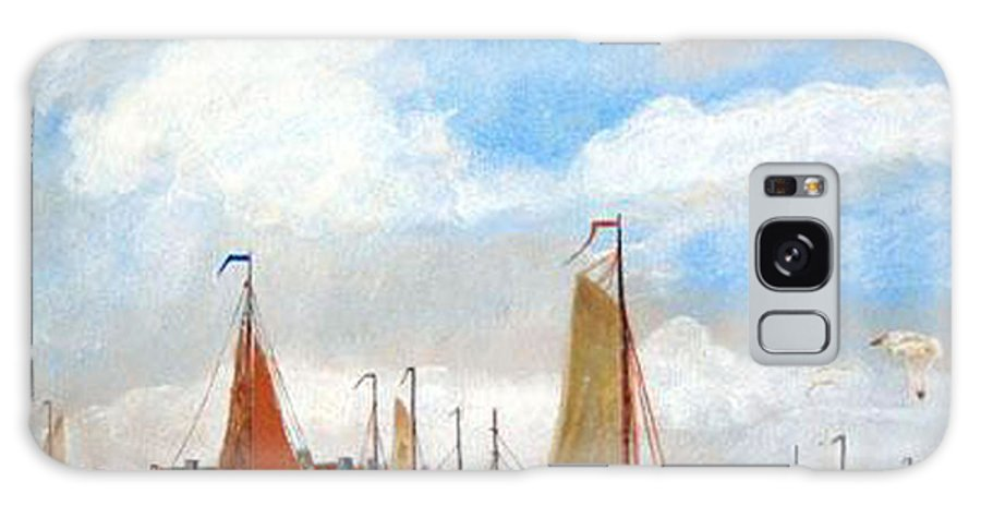 Netherlands Galaxy S8 Case featuring the painting Netherland's Harbour by Richard Le Page