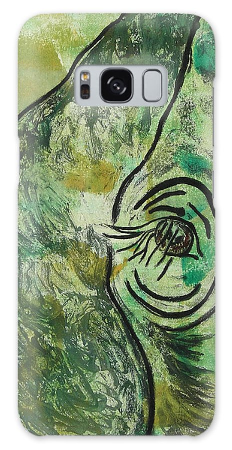 Monotype Galaxy Case featuring the mixed media Never Forgotten by Cori Solomon