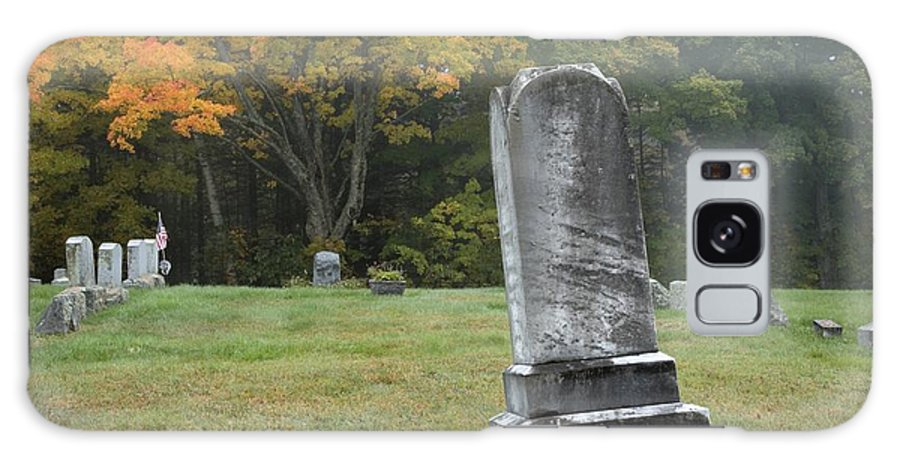 Graveyard Galaxy S8 Case featuring the photograph New England Graveyard During The Autumn by Erin Paul Donovan