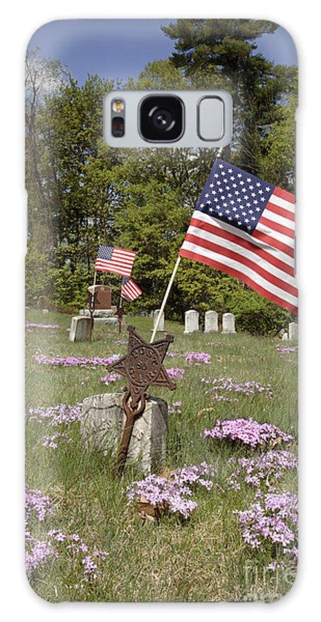 Veteran Galaxy S8 Case featuring the photograph New England Graveyard by Erin Paul Donovan