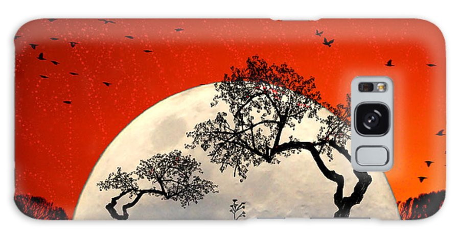 Moon Galaxy Case featuring the digital art New Growth New Hope by Holly Kempe