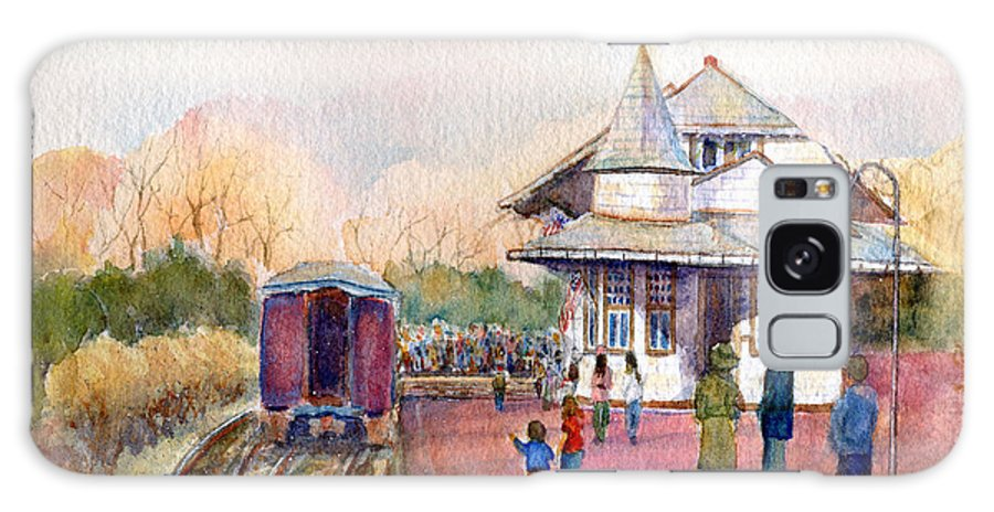 New Hope Station Galaxy S8 Case featuring the painting New Hope Station by Pamela Parsons