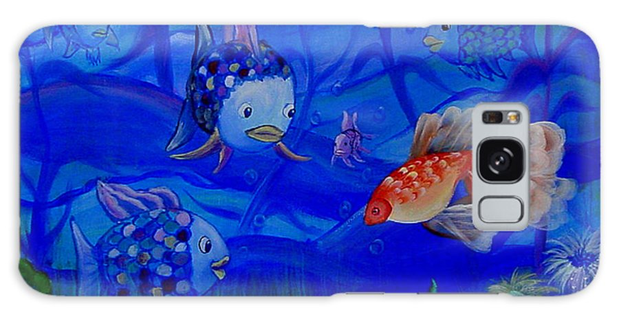 Fish Galaxy Case featuring the painting New Kid In Town by Quwatha Valentine