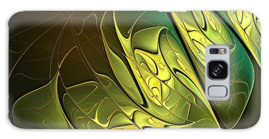 Digital Art Galaxy S8 Case featuring the digital art New Leaves by Amanda Moore