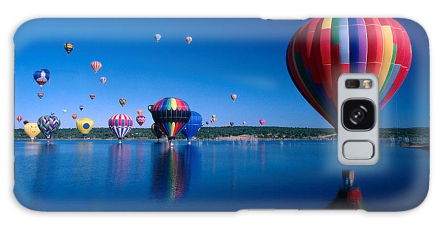 Hot Air Balloon Galaxy S8 Case featuring the photograph New Mexico Hot Air Balloons by Jerry McElroy